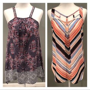 Maurices Lot of 2 Cute Strappy Tank Tops Size Sm